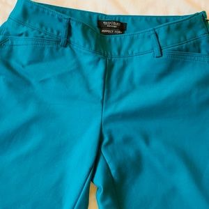 WHBM Slim Fit Ankle Pants Like New Bright Blue